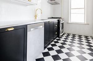 balck-and-white-tile-floor