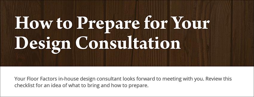 design consultation preparation