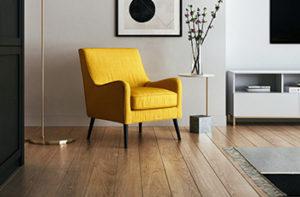 luxury-vinyl-flooring-and-yellow-chair