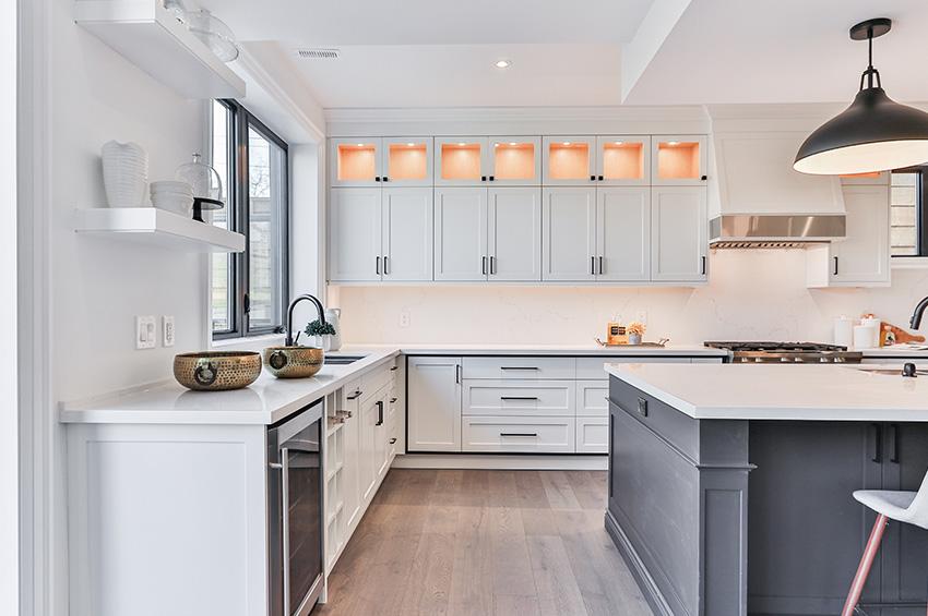 Luxury vinyl plank flooring in a kitchen