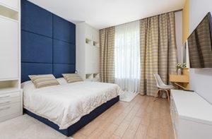 Bamboo flooring in a bedroom