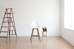Vinyl plank flooring in new home