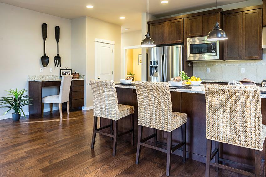 Hardwood floors in new kitchen